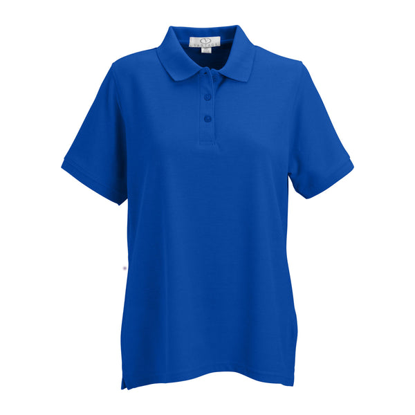Vantage women 39 s royal soft blend double tuck pique polo for No tuck golf shirts
