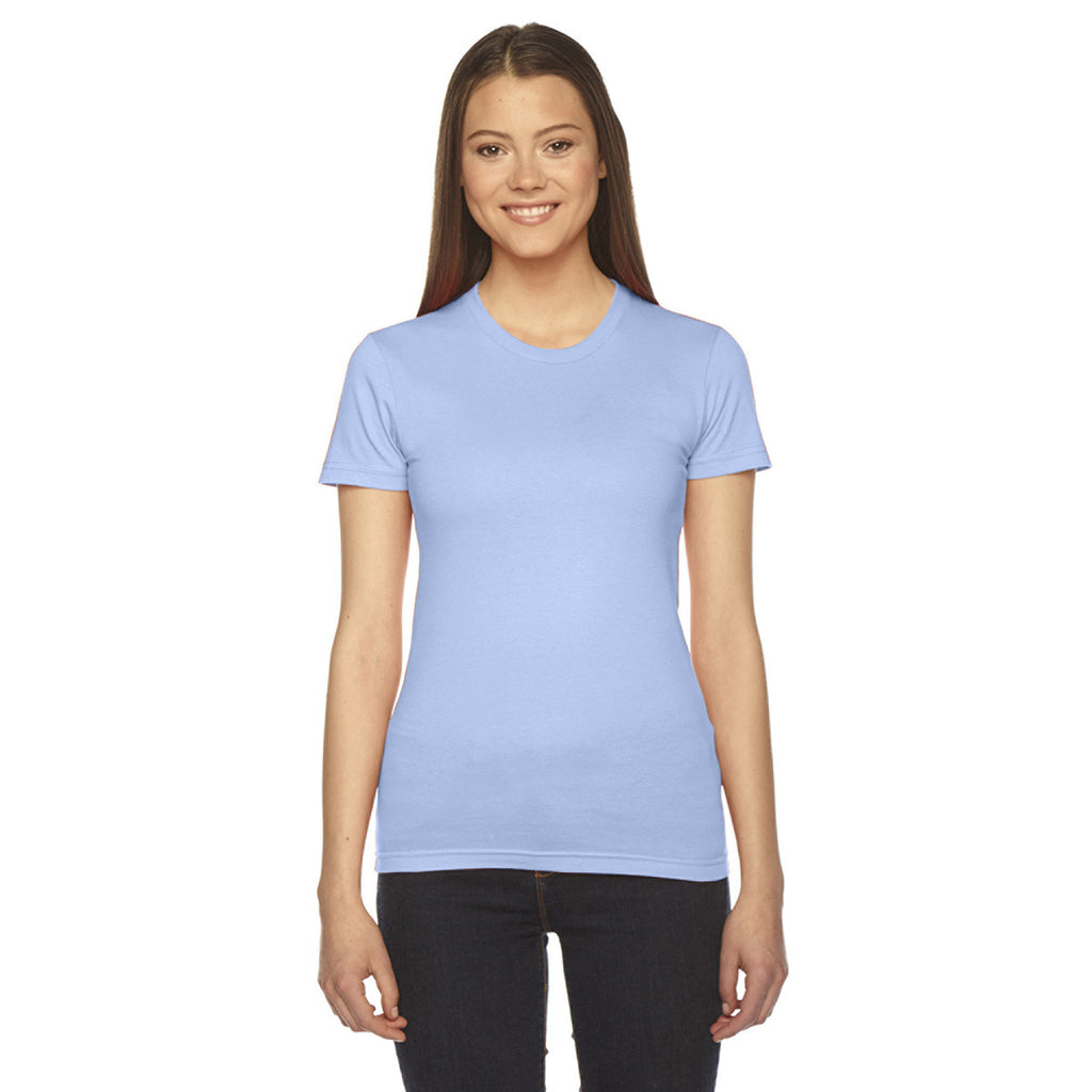 American apparel women 39 s baby blue fine jersey short for American apparel custom t shirts