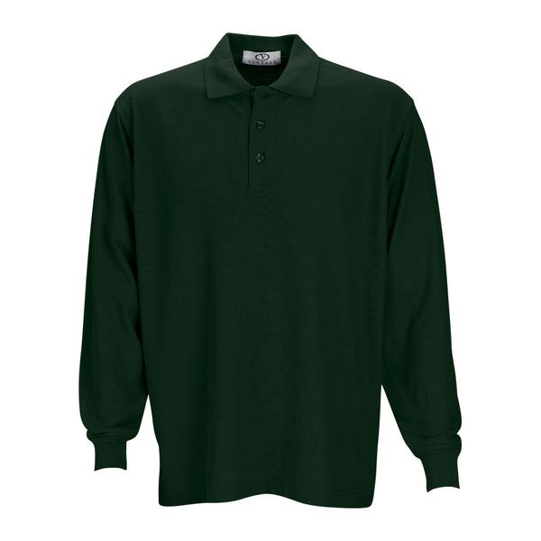 Vantage men 39 s dark forest long sleeve soft blend double for No tuck golf shirts