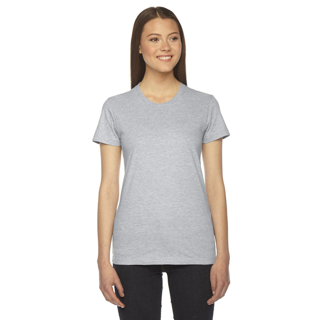 aca7a7c479d American Apparel Women s Heather Grey Fine Jersey Short-Sleeve T ...