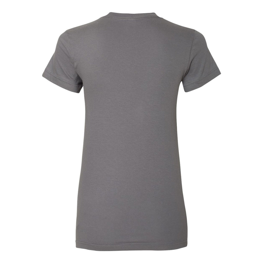American Apparel Women's Slate Fine Jersey Short Sleeve T-Shirt