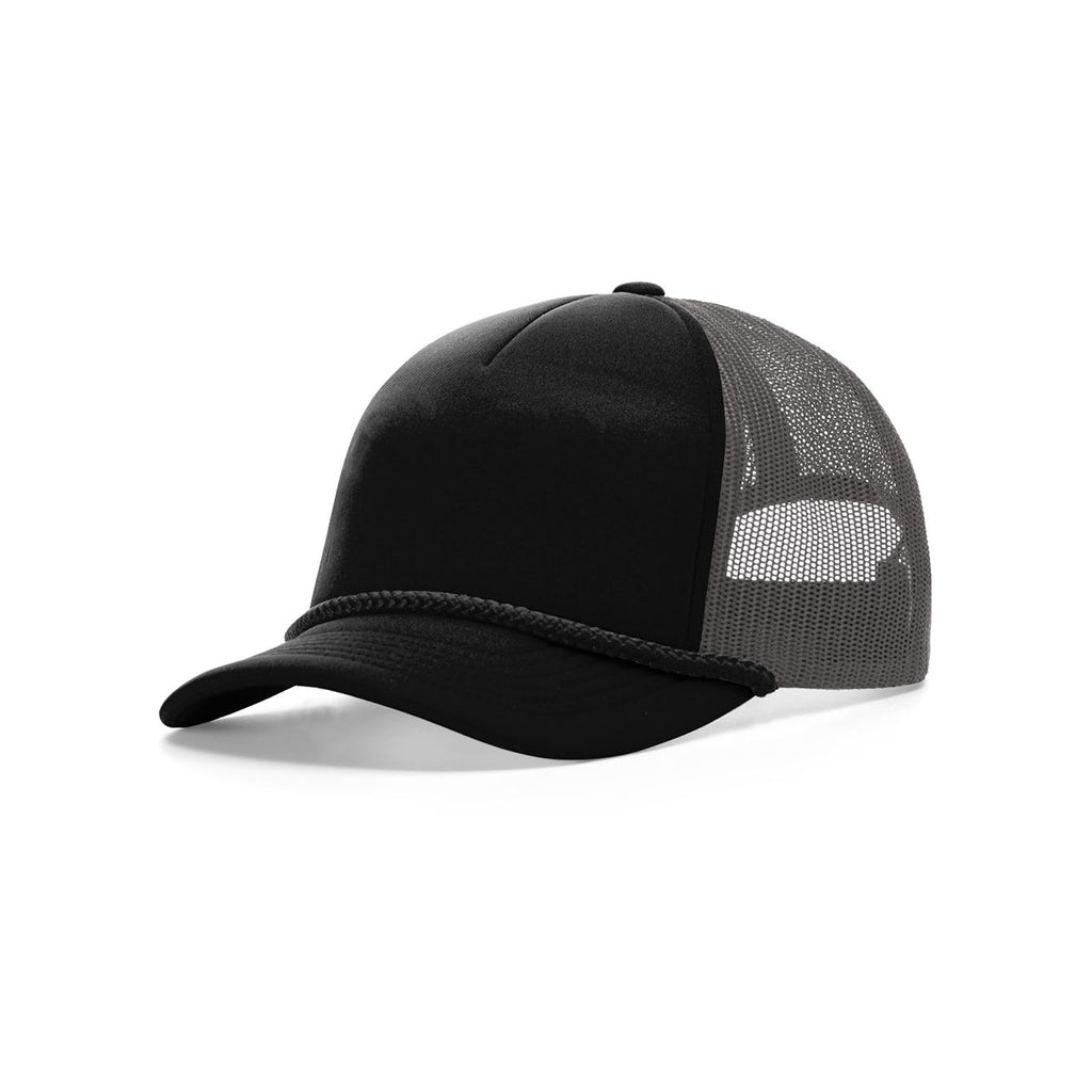 d6a6ffbb2710f Richardson Women s Black Charcoal Black Low Pro Foamie Trucker Hat