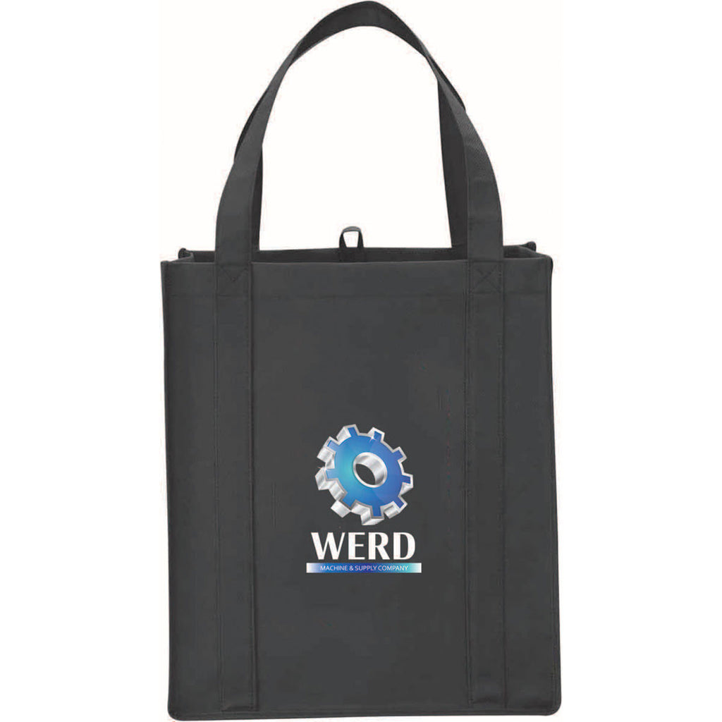 Leed's Black Big Grocery Non-Woven Tote