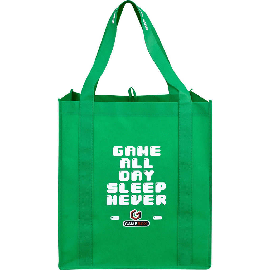 Leed's Bright Green Big Grocery Non-Woven Tote