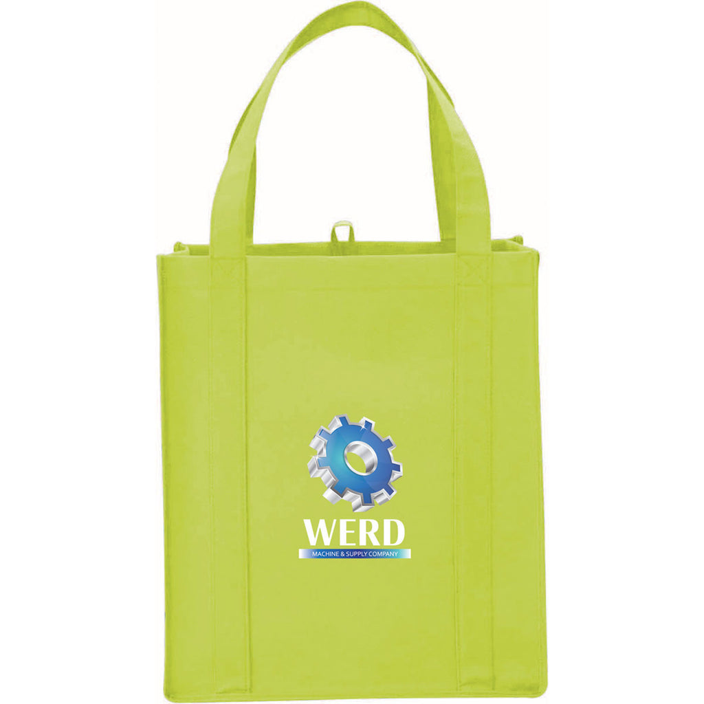 Leed's Lime Big Grocery Non-Woven Tote