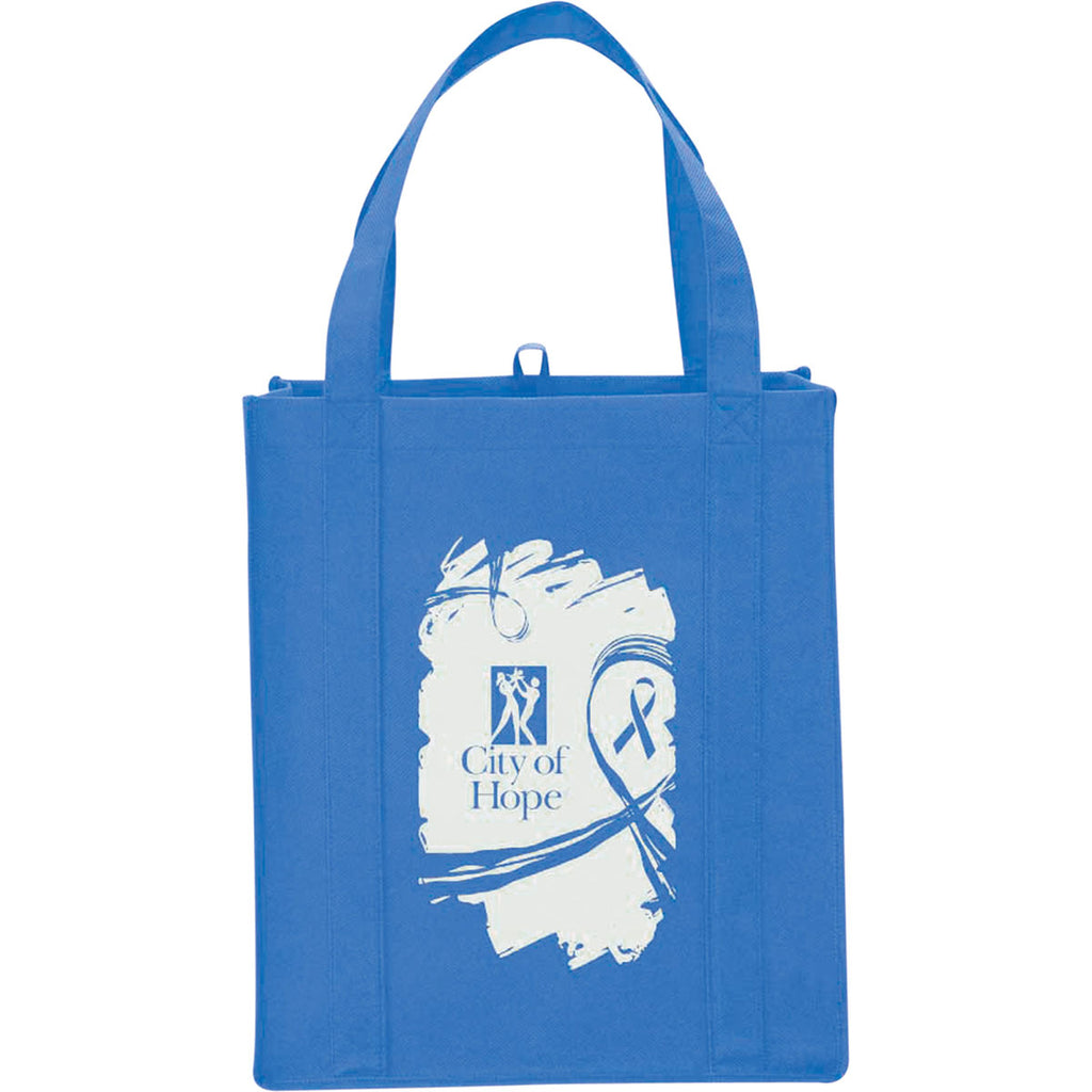 Leed's Ocean Blue Big Grocery Non-Woven Tote