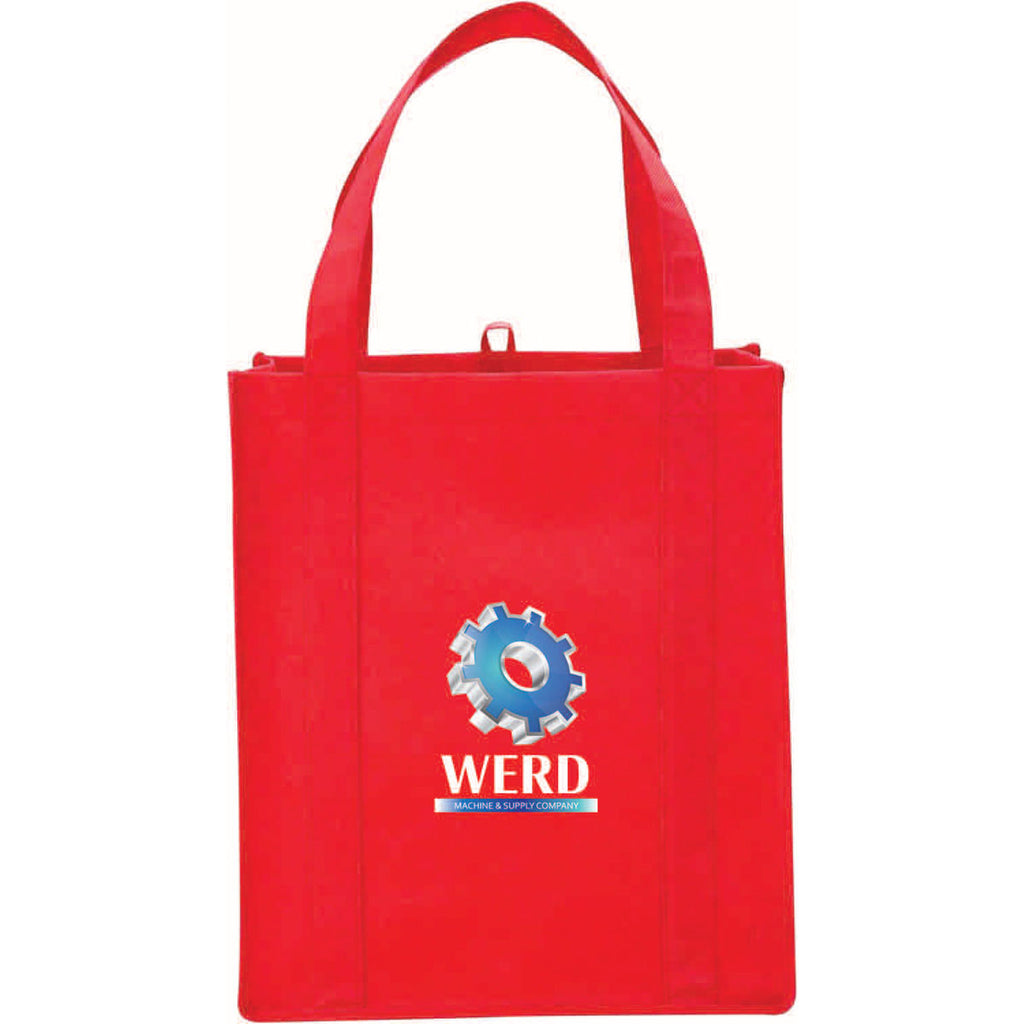 Leeds Red Big Grocery Non-Woven Tote