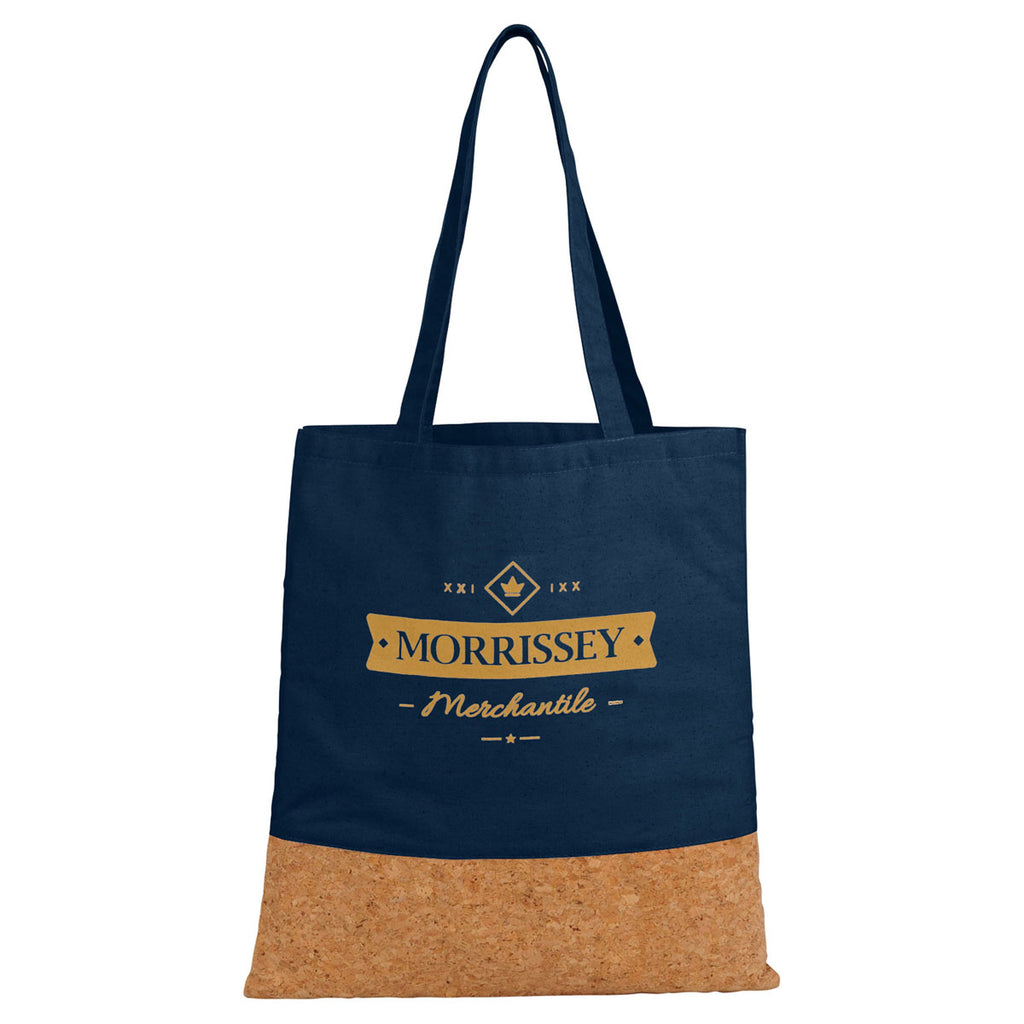 Leed's Navy Cotton and Cork Convention Tote