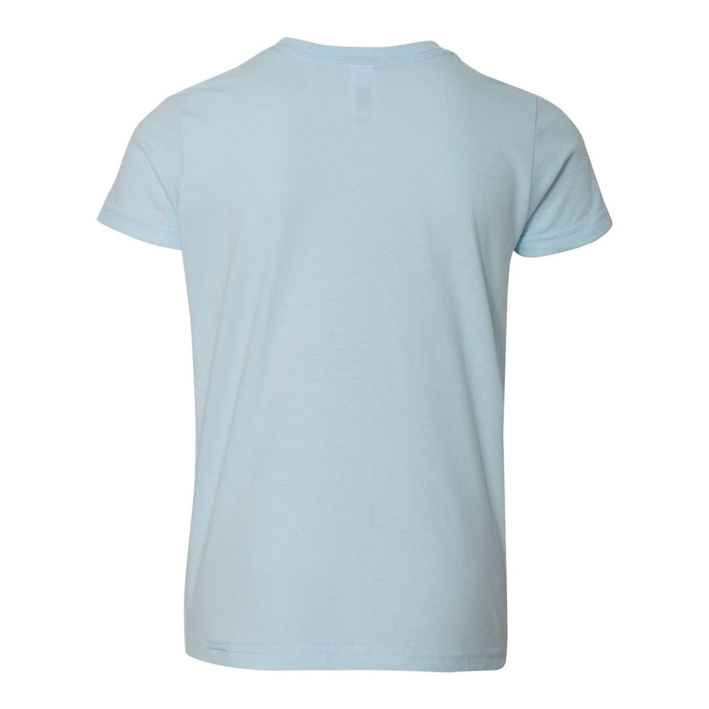 American Apparel Youth Light Blue Fine Jersey Short Sleeve T-Shirt