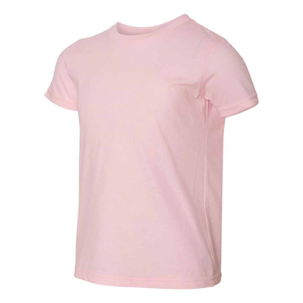 American Apparel Youth Light Pink Fine Jersey Short Sleeve T-Shirt