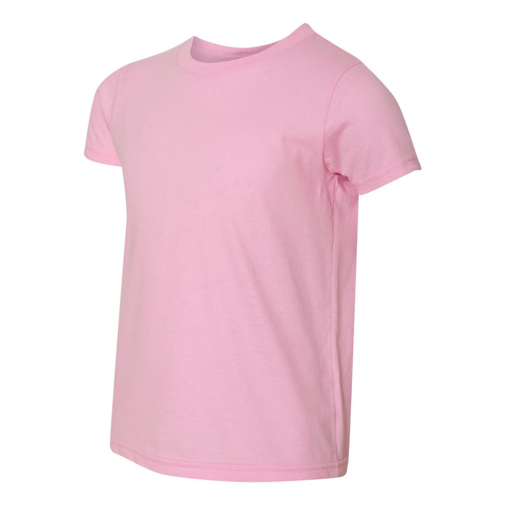 American Apparel Youth Pink Fine Jersey Short Sleeve T-Shirt