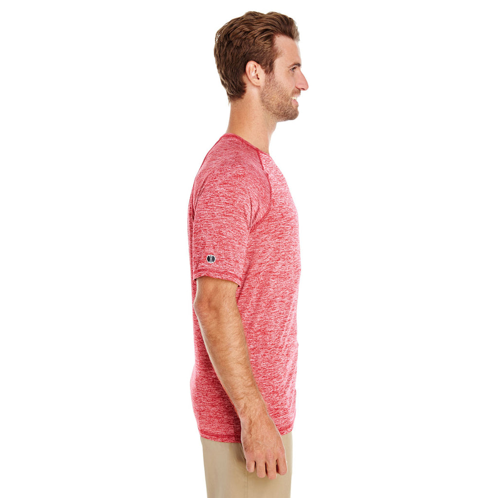 Holloway Men's Scarlet Heather Electrify 2.0 Short-Sleeve