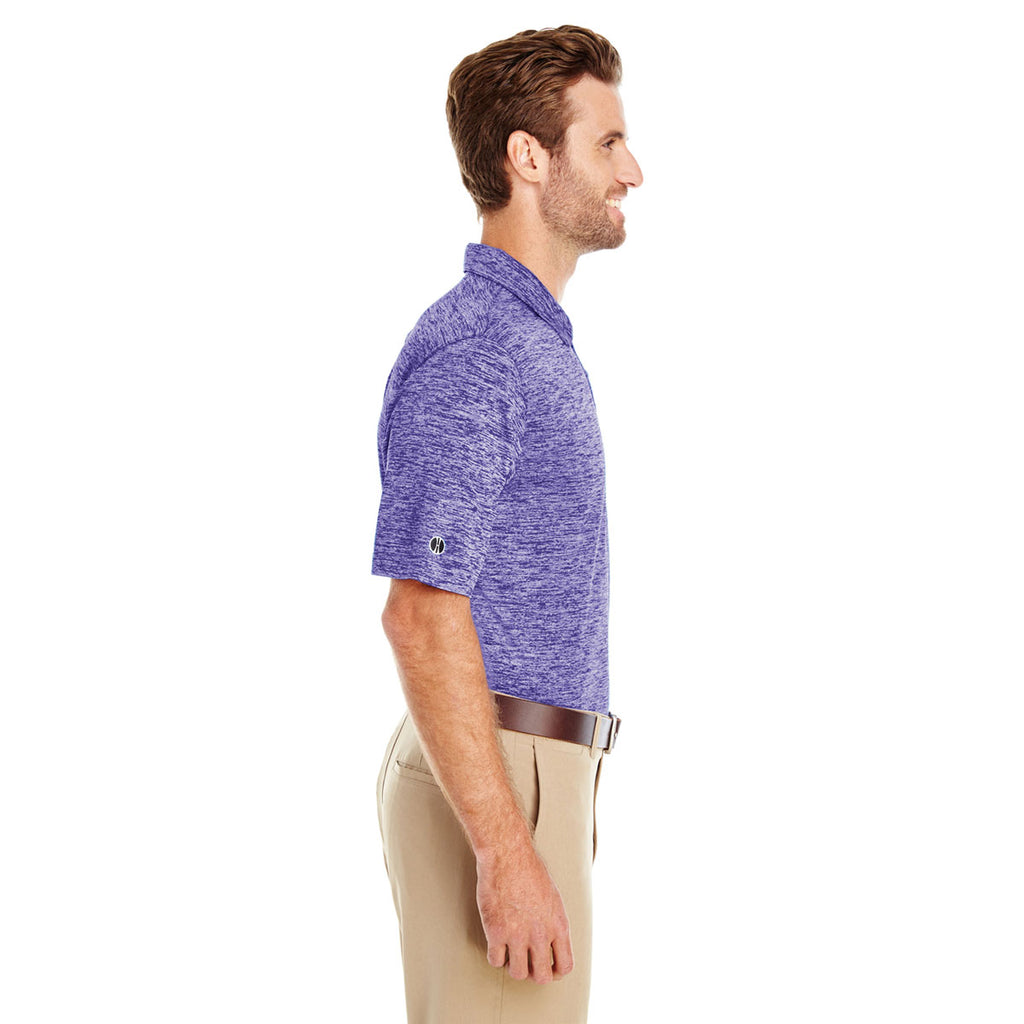 Holloway Men's Purple Heather Electrify 2.0 Polo