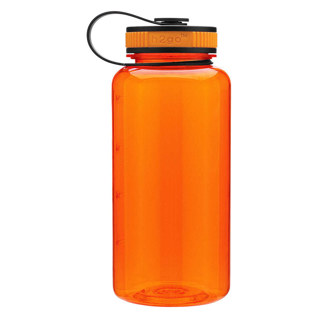 H2Go Tangerine Wide Bottle 34 oz