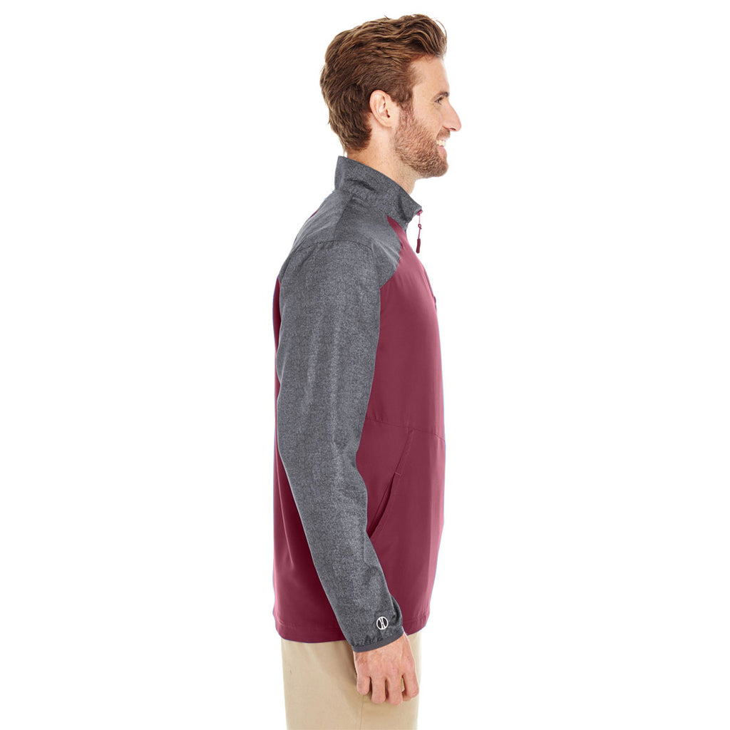 Holloway Men's Carbon Print/Maroon Raider Pullover