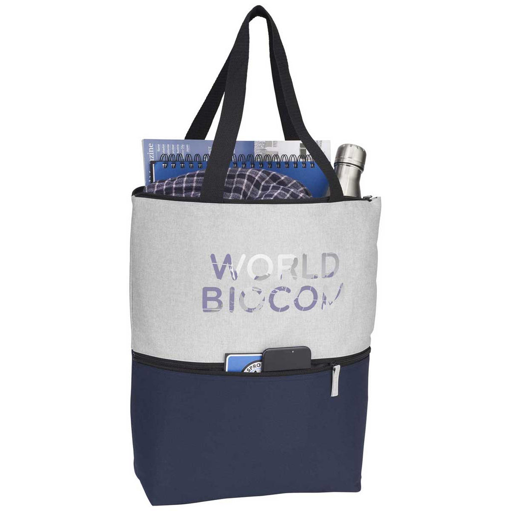 Leed's Navy Merlin Zippered Tote