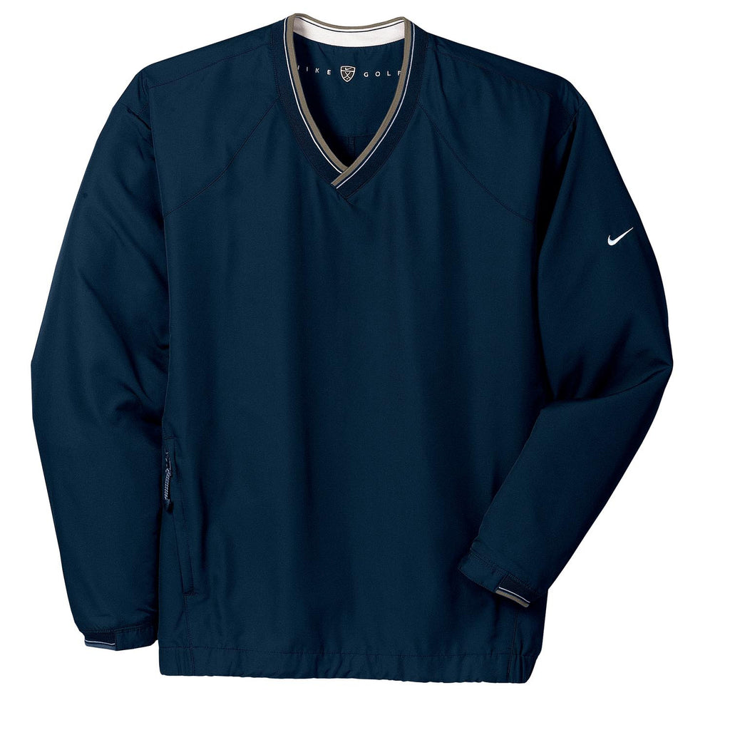 37730d7b9ec3 Nike Men s Navy V-Neck L S Wind Shirt. ADD YOUR LOGO