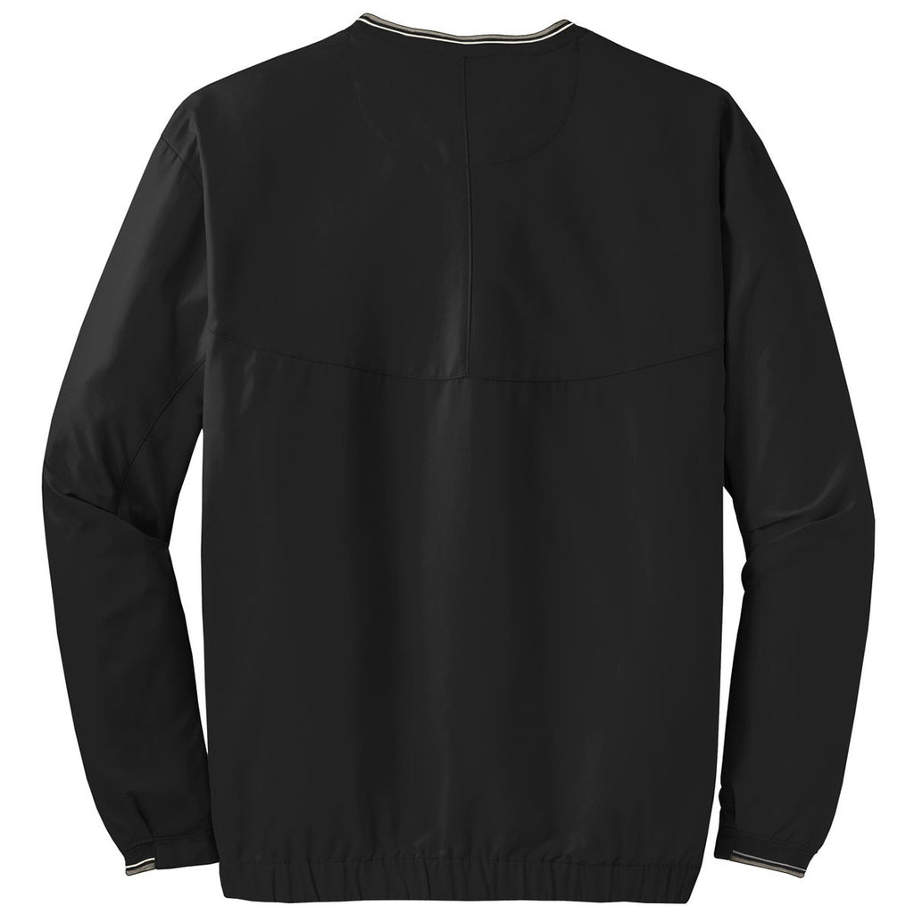Nike Men's Black V-Neck Long Sleeve Wind Shirt