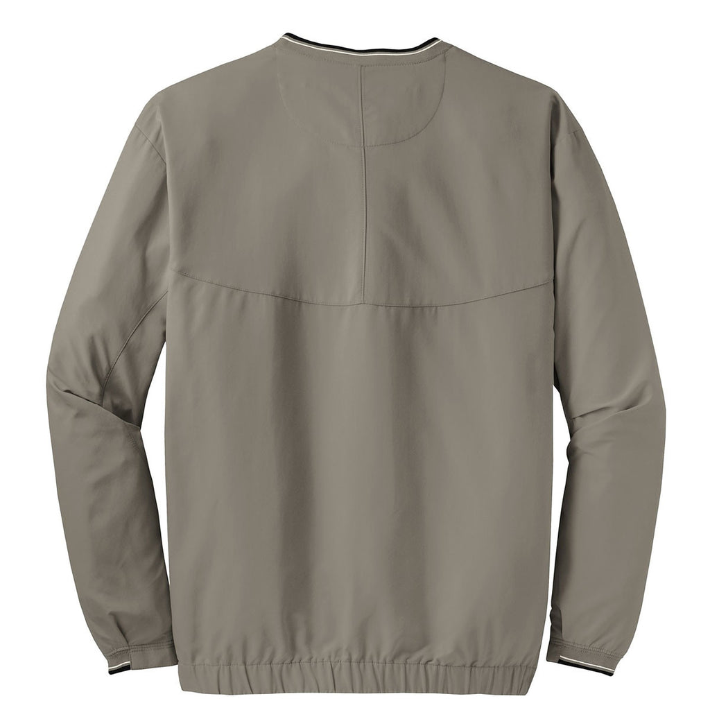 Nike Men's Olive Khaki V-Neck L/S Wind Shirt