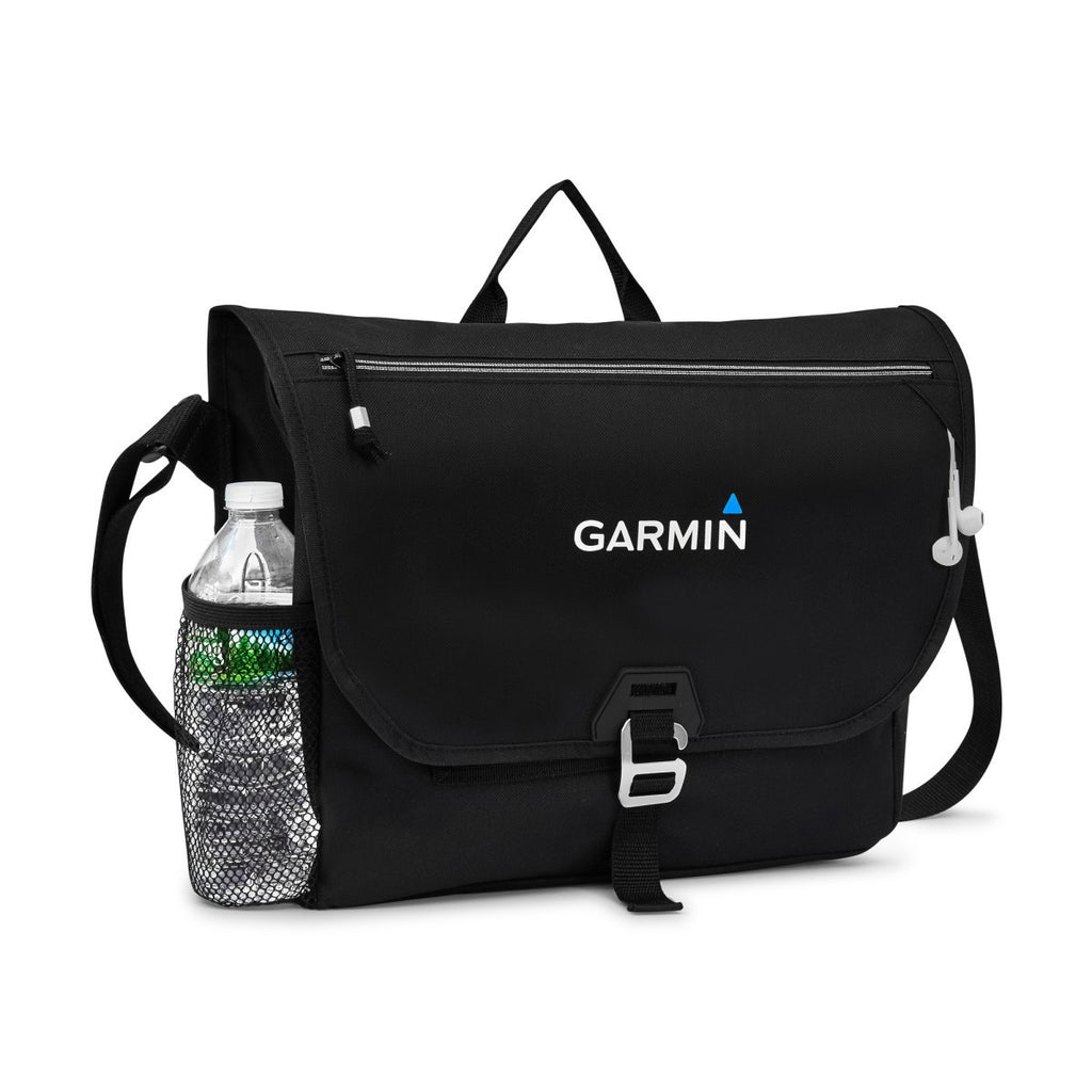 Gemline Black Subway Messenger Bag