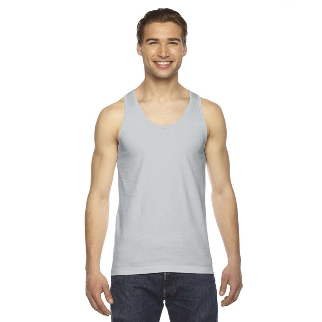 596f854bc2 American Apparel Unisex New Silver Fine Jersey Tank. ADD YOUR LOGO