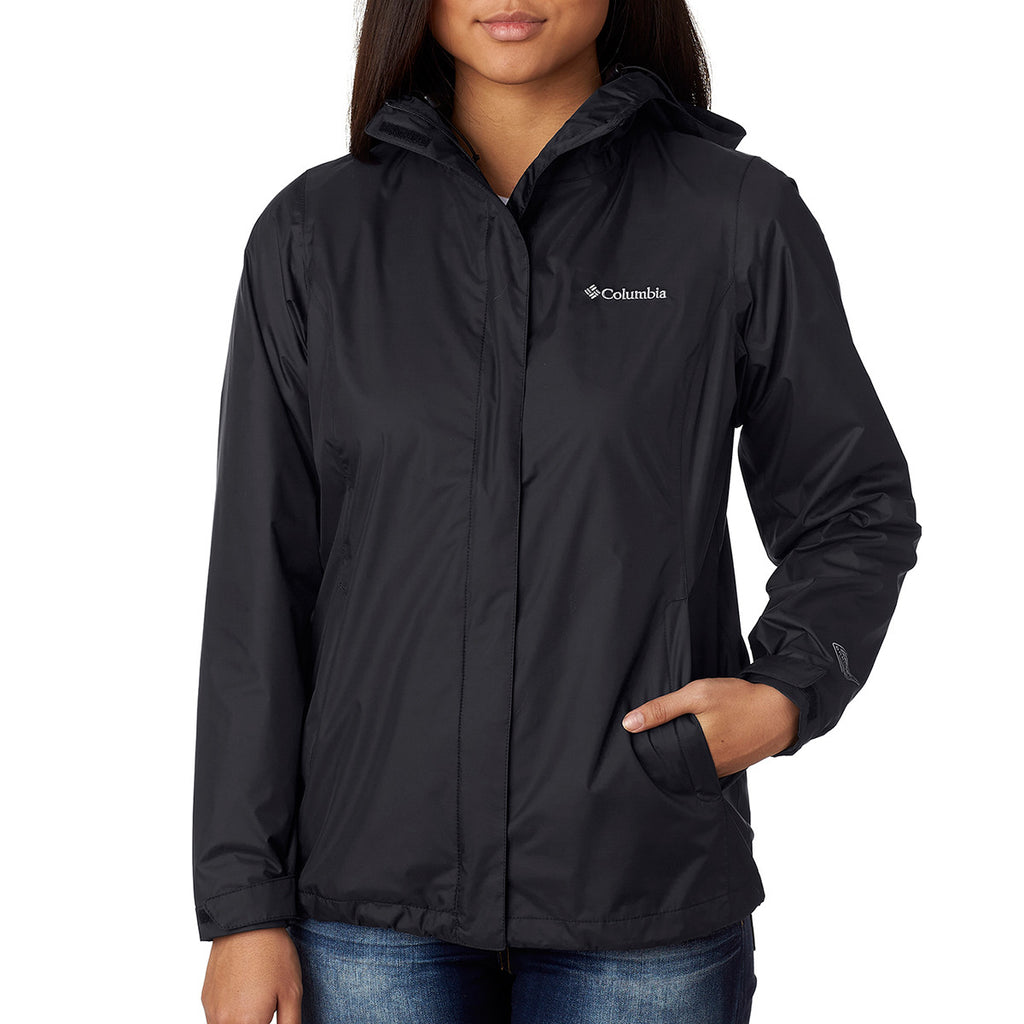 2030a6fa27a08 Columbia Women s Black Arcadia II Rain Jacket. ADD YOUR LOGO