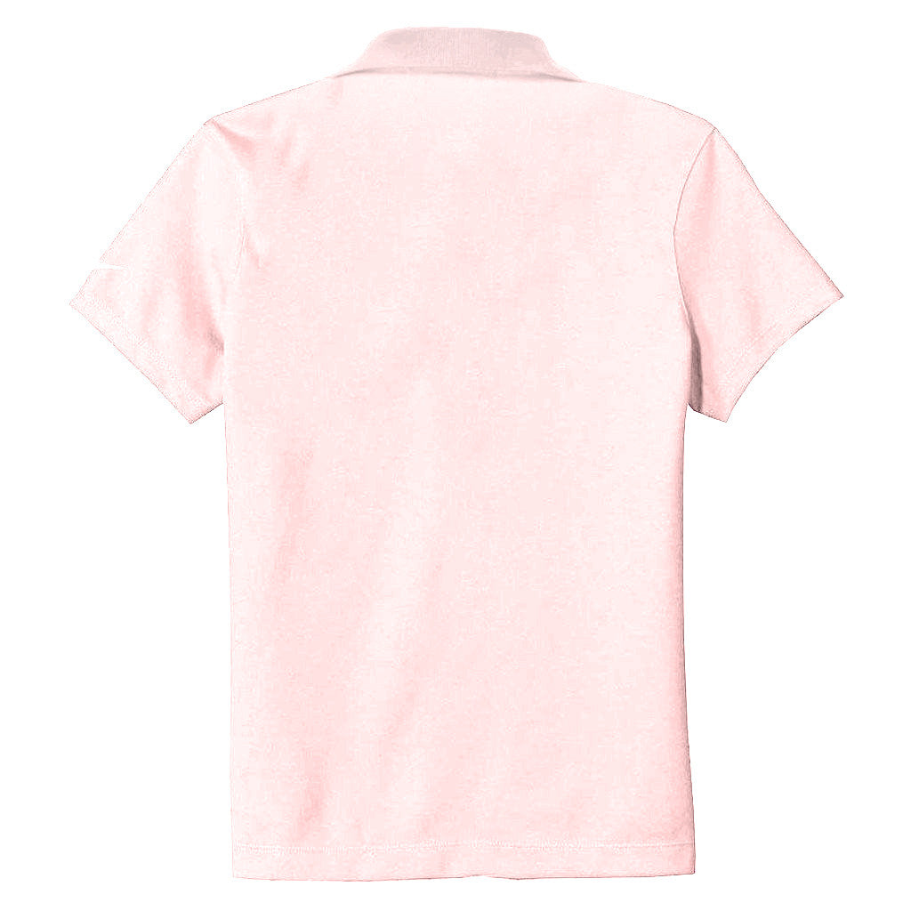 Nike Women's Pink Dri-FIT S/S Pique II Polo