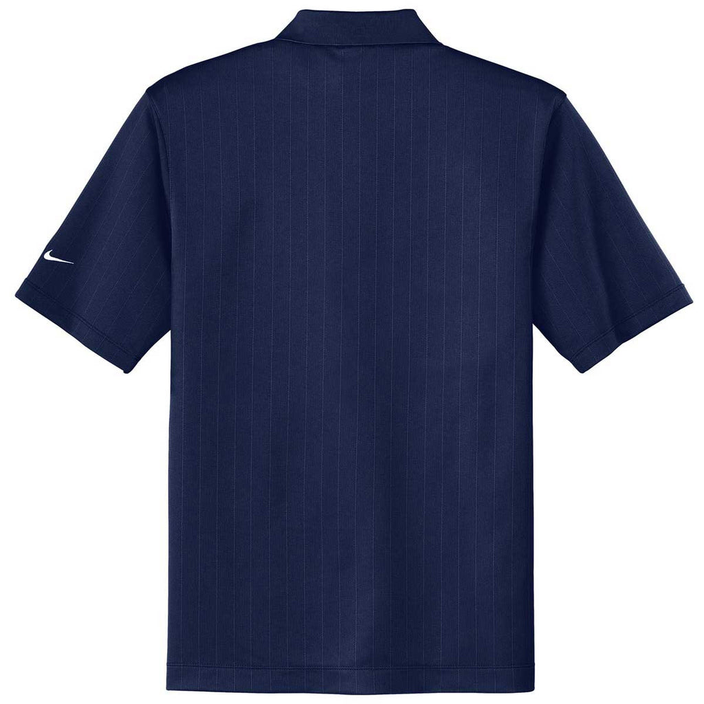 Nike Men's Navy Dri-FIT S/S Textured Polo