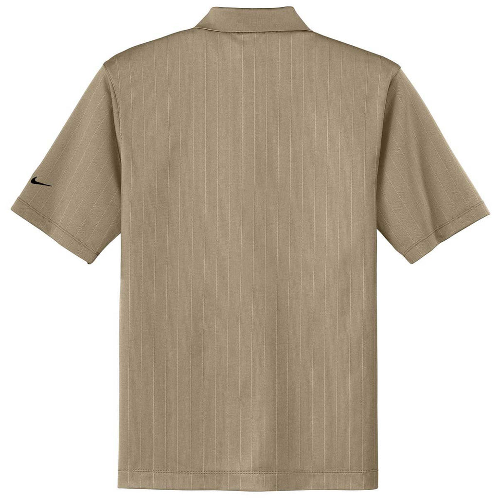Nike Men's Beige Dri-FIT S/S Textured Polo
