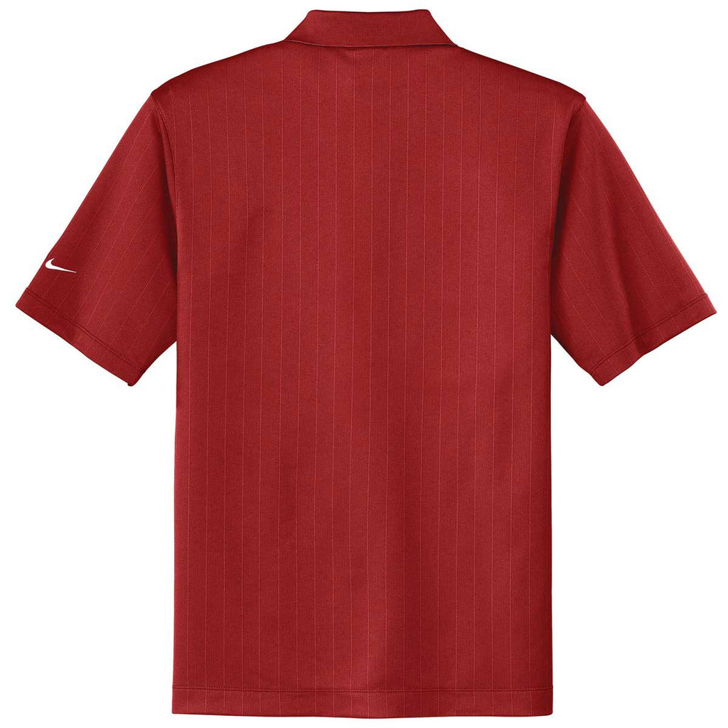Nike Men's Red Dri-FIT S/S Textured Polo