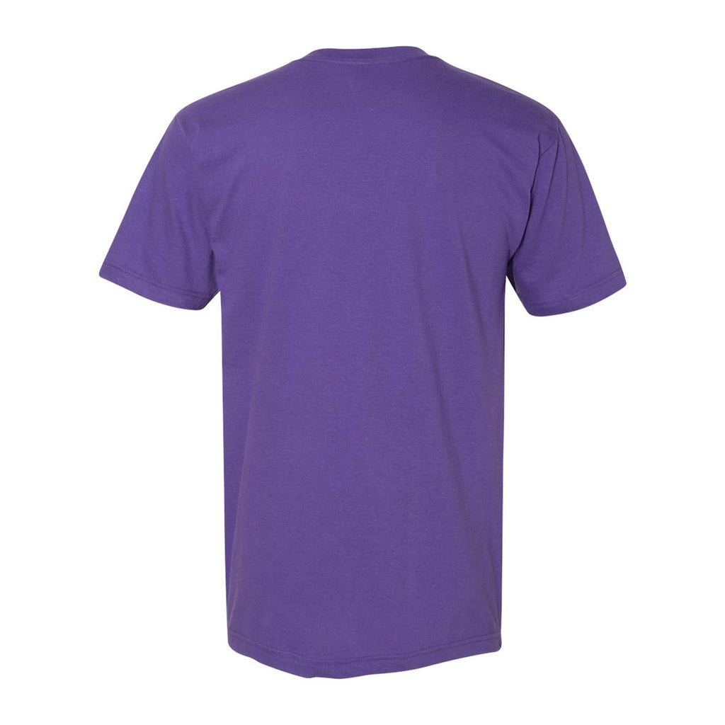 American Apparel Unisex Purple Fine Jersey Short Sleeve V-Neck
