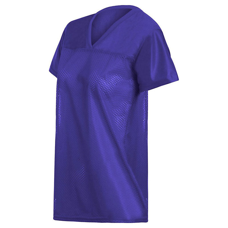Augusta Sportswear Women s Purple Junior Fit Replica Football T-Shirt. ADD  YOUR LOGO d8ba779ba0