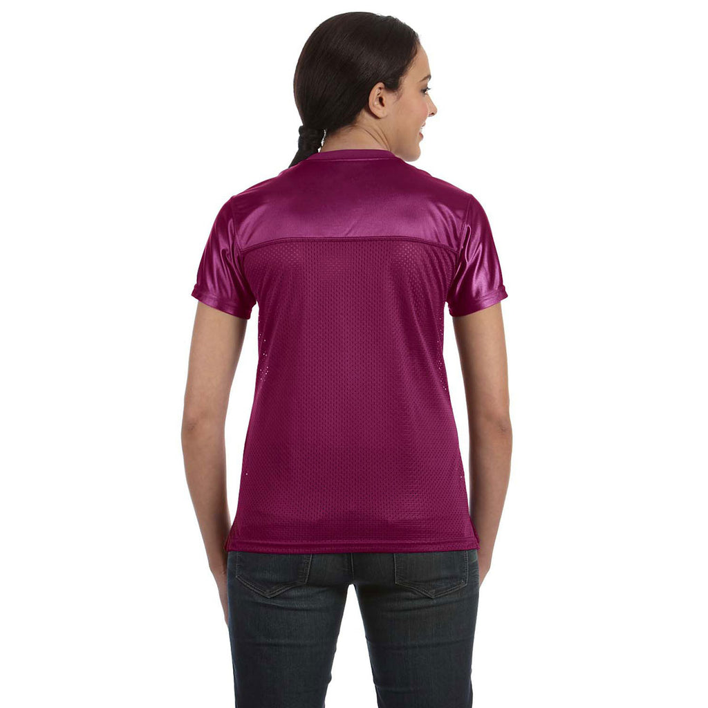 Augusta Sportswear Womens Junior Fit Replica Football Tee