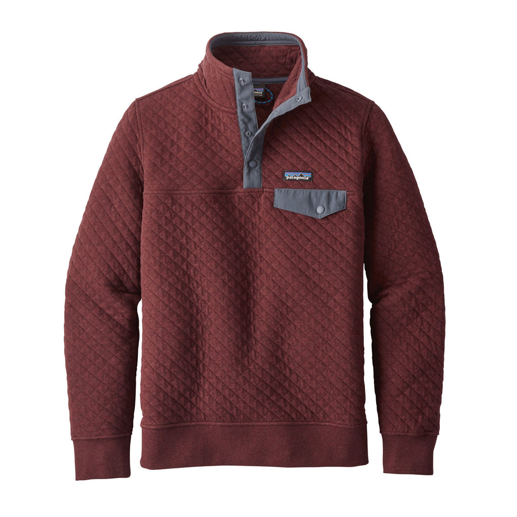 Patagonia Women S Dark Ruby Cotton Quilt Snap T Pullover