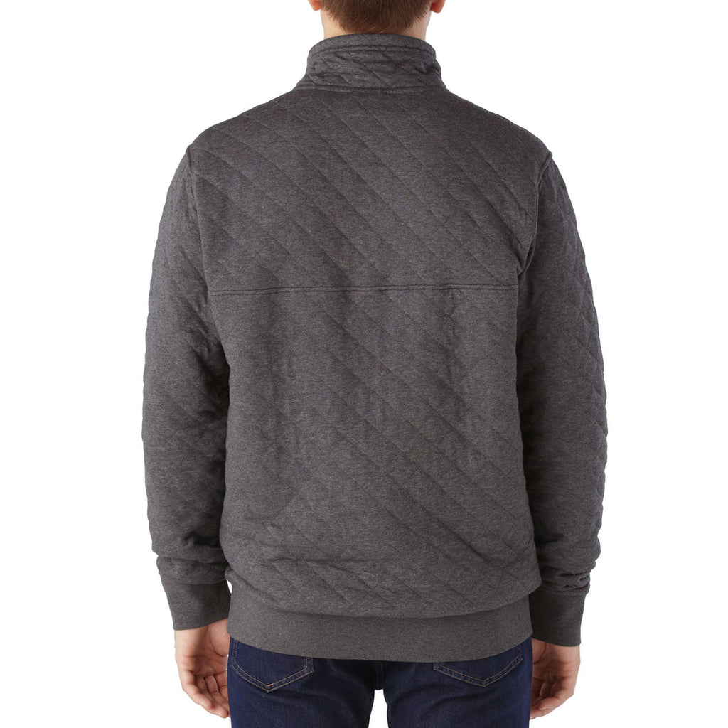Patagonia Men S Forge Grey Cotton Quilt Snap T Pullover