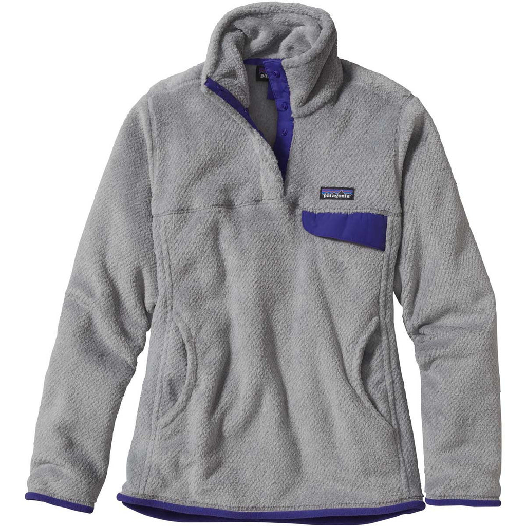 9a6ebd943 Patagonia Women's Tailored Grey/Harvest Moon Blue Re-Tool Snap-T Fleece  Pullover. ADD YOUR LOGO