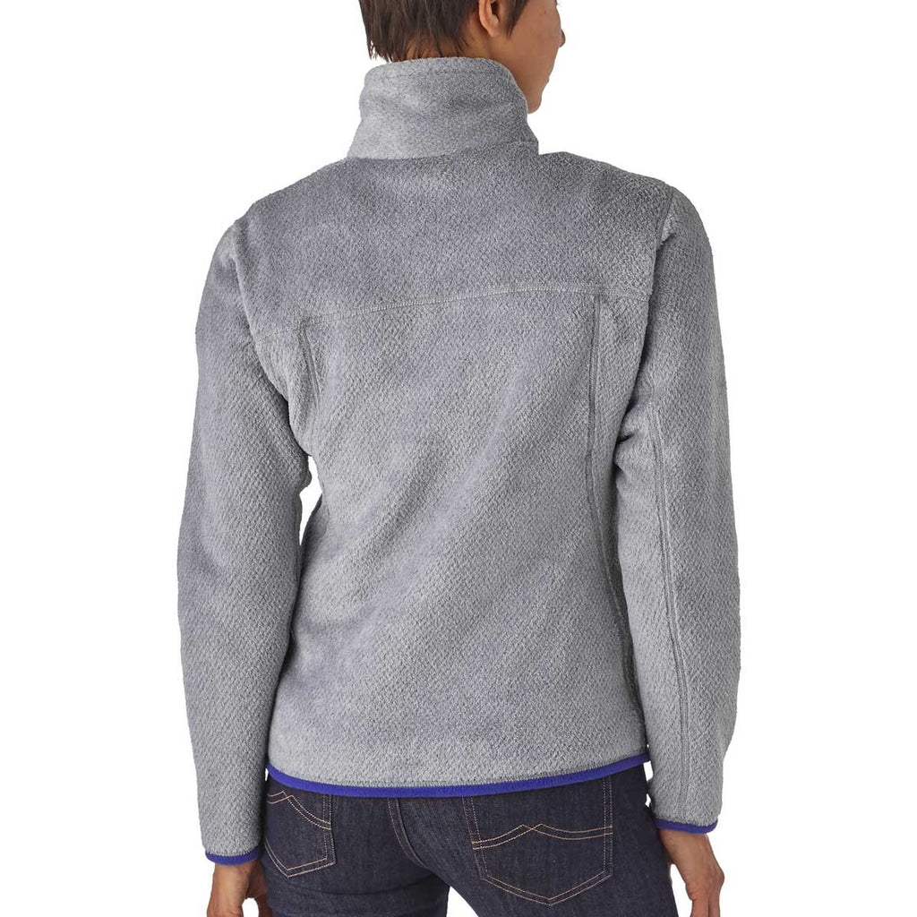 Patagonia Women's Tailored Grey/Harvest Moon Blue Re-Tool Snap-T Fleece Pullover