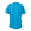 Vantage Women's Island Blue Omega Solid Mesh Tech Polo