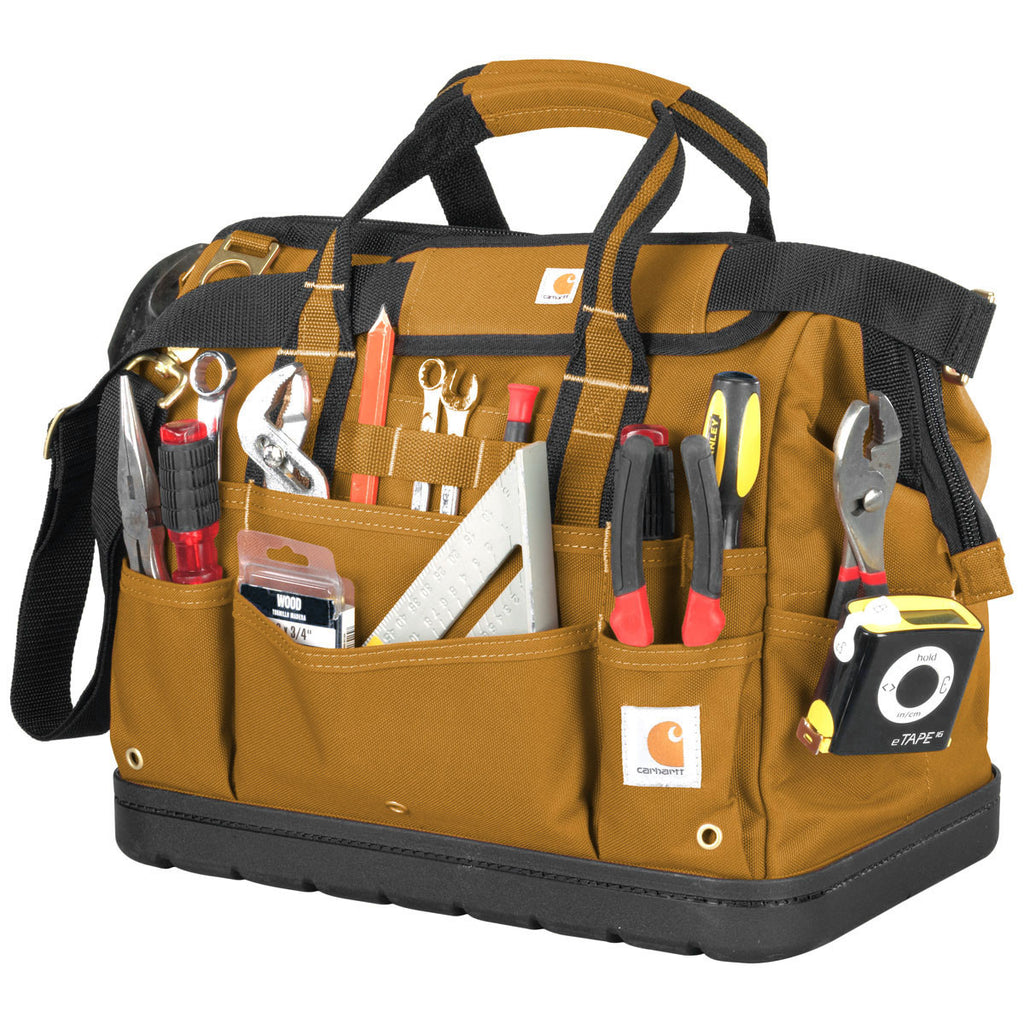 79f8aa012f Carhartt Brown Legacy 16 Inch Tool Bag With Molded Base