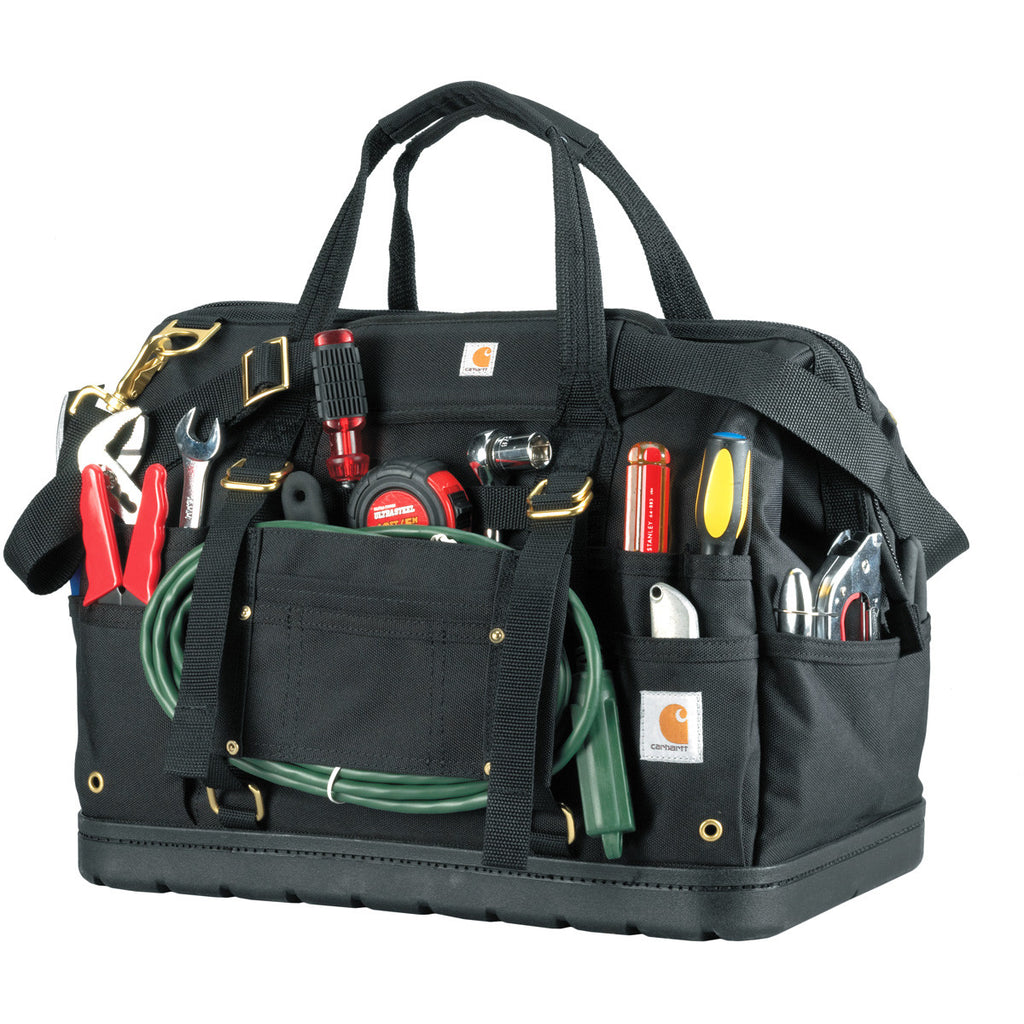Carhartt Black Legacy 18 Tool Bag with Molded Base - S16