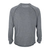 Vantage Men's Charcoal Heather Long Sleeve Melange Tech Tee