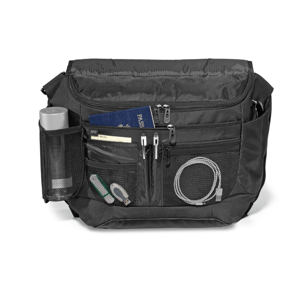 Life in Motion Black Peak Computer Messenger Bag