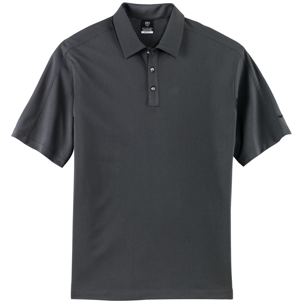Nike Golf Men 39 S Dark Grey Tech Sport Dri Fit S S Polo
