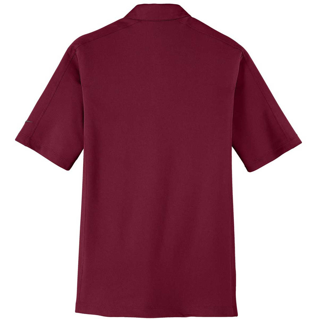 Nike Men's Red Tech Sport Dri-FIT S/S Polo