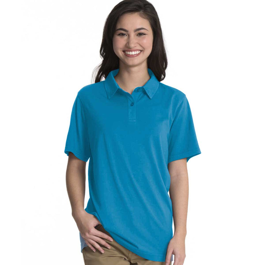 Charles River Women's Carolina Blue Seaside Polo