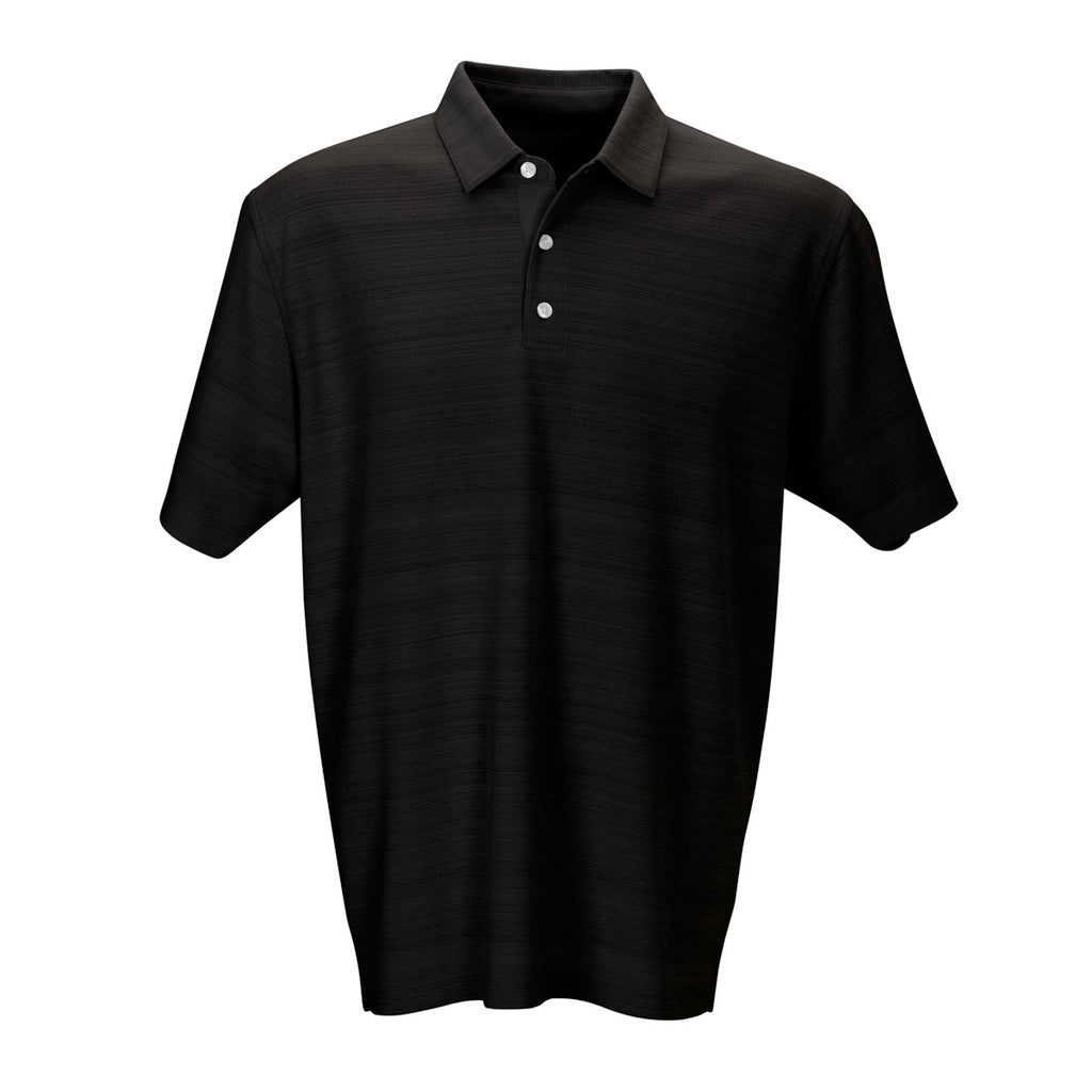 black single men in vantage This men's long sleeved polo is made with performance fabric that ensures comfort when worn and easy-care to keep you looking your best the polo also features the bowling green peekaboo logo embroidered on the left chest 100% polyester, 4 1/2 oz vansport moisture management micro-mesh knit body, uv protection, solid.