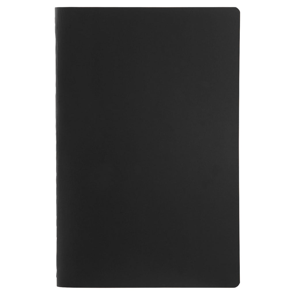 JournalBooks Black Solid Saddlestitch Bound Notebook