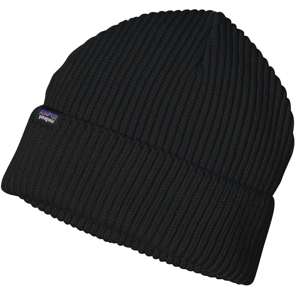 3a0e40ef0d7 Patagonia Black Fisherman s Rolled Beanie