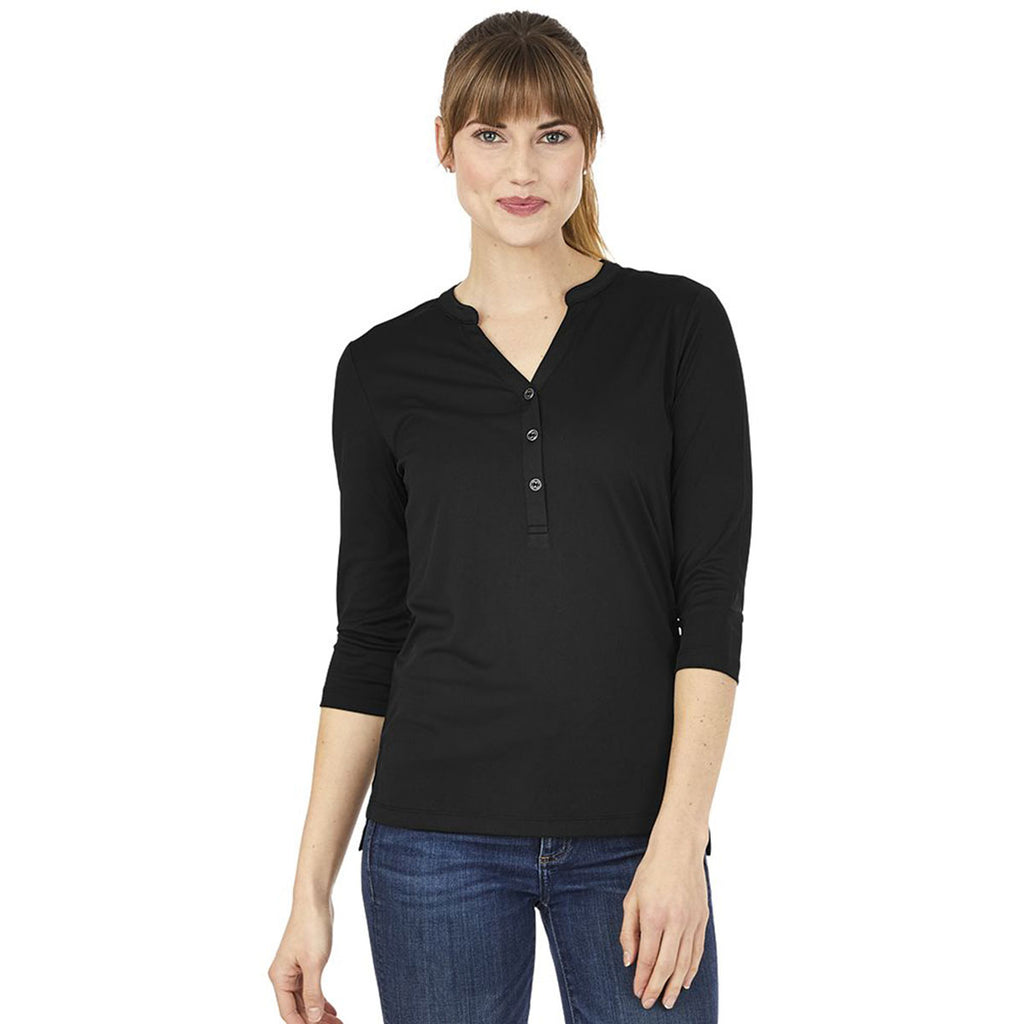 Charles River Women's Black Windsor Henley