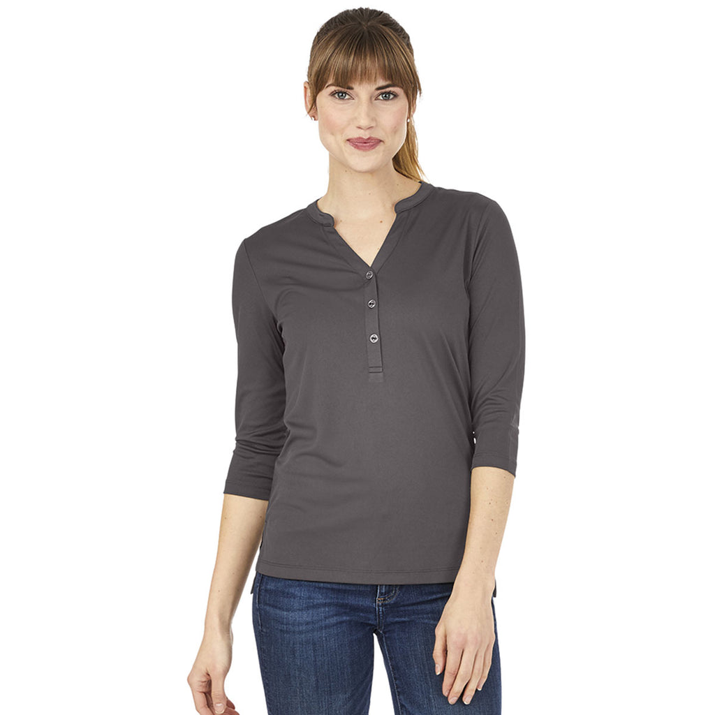 Charles River Women's Charcoal Windsor Henley